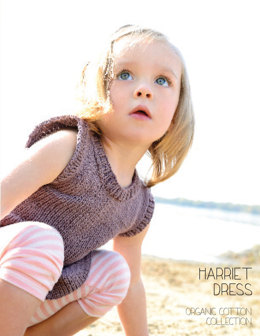 Harriet Dress in Blue Sky Fibers Skinny Cotton - 2813 - Downloadable PDF
