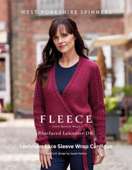 Levisham Lace Sleeve Wrap Cardigan in West Yorkshire Spinners Bluefaced Leicester DK - DBP0180 - Downloadable PDF