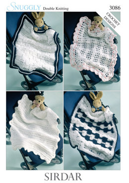 Baby Blankets in Sirdar Snuggly DK - 3086 - Downloadable PDF