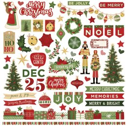 "Photoplay Paper Christmas Memories Stickers 12""X12"" - Elements"