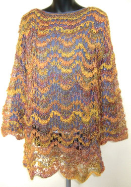 Feather and Fan Jumper in Sirdar Divine