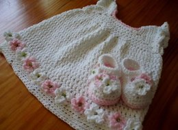 Sunday Best Baby Dress and Shoes