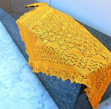 Triangle of Happiness shawl