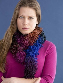 Pucker Up Scarf in Filatura Di Crosa Kiss Kiss