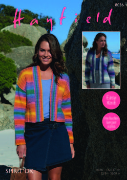 Jackets in Hayfield Spirit DK - 8036 - Downloadable PDF