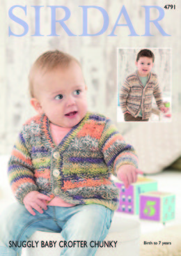 Cardigans in Sirdar Snuggly Baby Crofter Chunky - 4791 - Downloadable PDF