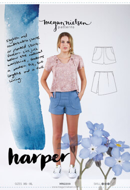 Megan Nielsen Harper Shorts MN2209 - Sewing Pattern