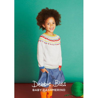Lulu Sweater, Beret and Handwarmers in Debbie Bliss Baby Cashmerino - DB200 - Downloadable PDF