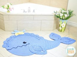 Joyce and Justin Whale Rug Crochet Pattern