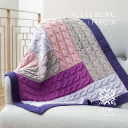 Trelleborg Throw in MillaMia Naturally Soft Merino - Downloadable PDF