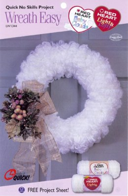 Wreath Easy  in Red Heart Baby Clouds - LW1344