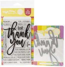 Waffle Flower Crafts Waffle Flower Stamp & Die Set - Oversized Thank You