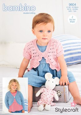Boleros in Stylecraft Bambino DK - 9604 - Downloadable PDF
