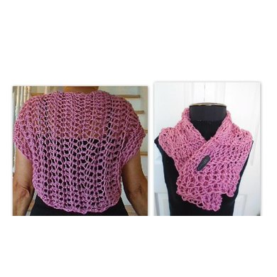 #yt Lightweight Fishnet Summer Shrug