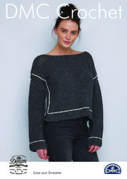 Line-out Sweater in Natura Denim in DMC - 15456L/2 - Leaflet