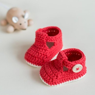 Ruby Slippers Crochet Baby Booties