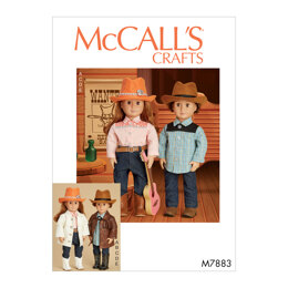 McCall's Clothes, Hat and Belt For 18 Doll M7883 - Sewing Pattern