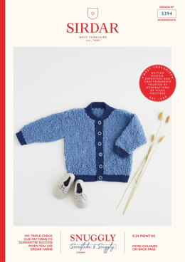 Round Neck Jacket in Sirdar Snuggly Snowflake Chunky 50g & Snuggly DK - 5394 - Leaflet