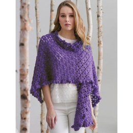 Ruffle Edge Wrap in Patons Lace Sequin - Downloadable PDF