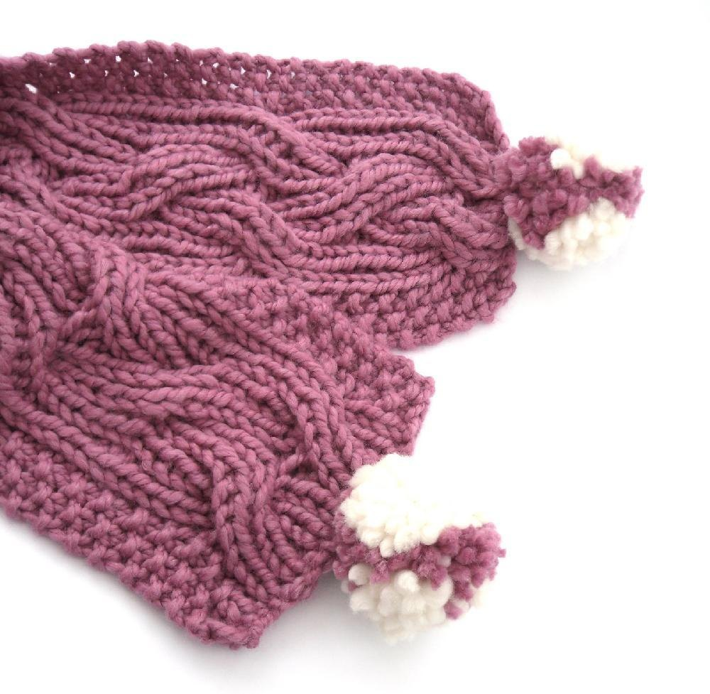 Knitting Pattern For Reversible Doll : Chunky Reversible Cable Scarf Knitting pattern by The ...
