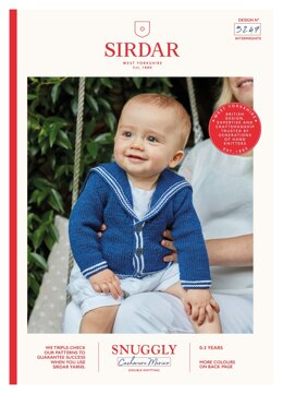 Sailor Cardigan in Sirdar Snuggly Baby Cashmere Merino DK - 5247 - Downloadable PDF