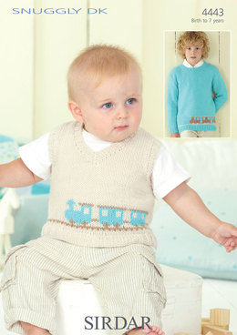 Train Tank Top and Sweater in Sirdar Snuggly DK - 4443