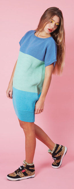 Colour Block Tunic in C+B Cleo -  Downloadable PDF