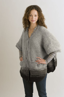 Metro Poncho in Lion Brand Wool-Ease - 90187AD