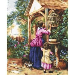 Luca-S The Bird Cage Petit Point Tapestry Kit