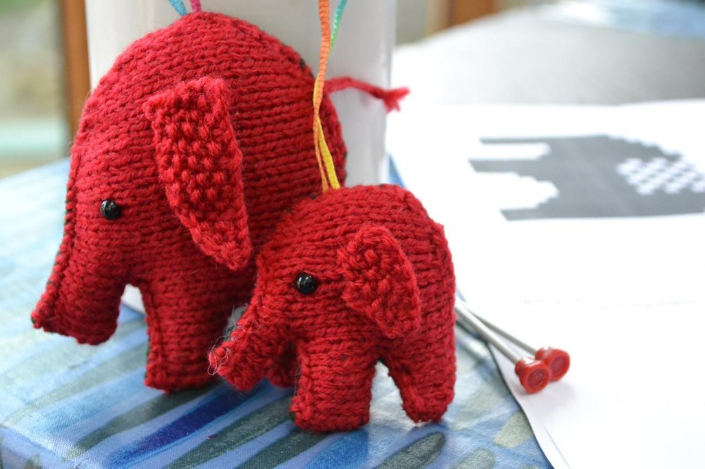 Christmas Elephants Knitting pattern by Virginia Sturdy