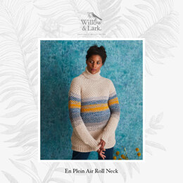 En Plein Air Roll Neck - Sweater Knitting Pattern For Women in Willow & Lark Poetry and Ramble by Willow & Lark