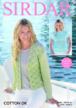 Jacket & Top in Sirdar Cotton DK - 8121 - Downloadable PDF