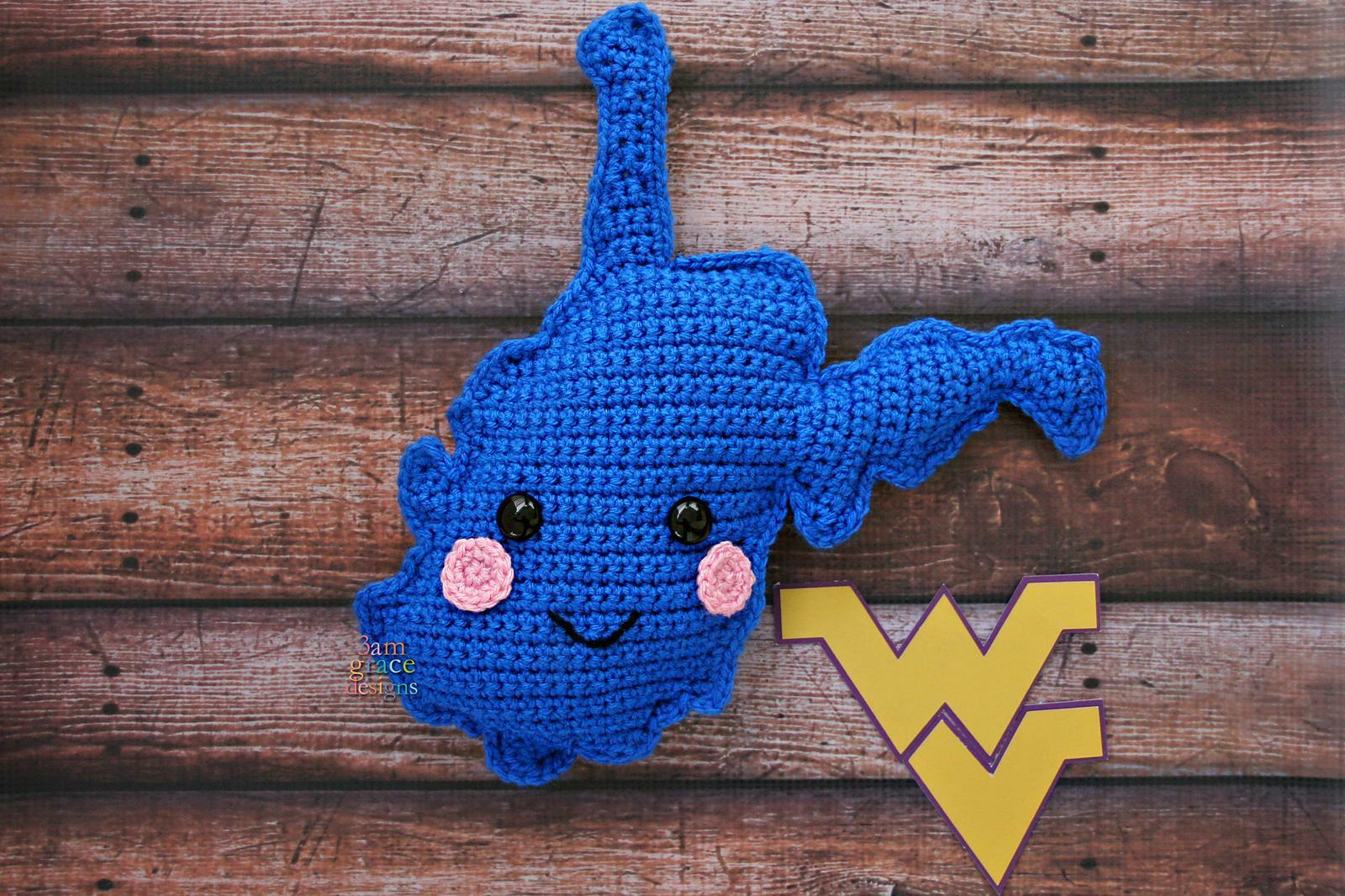 West Virginia State Wooden Baby Rattle /™