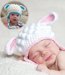 Crochet Lamb Hat Pattern (US Terms)