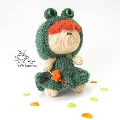 Funny doll frog