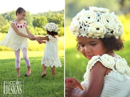 Summer Dreams, Dress, Top and Beret, Crochet Pattern in PDF