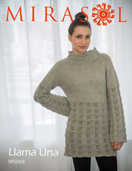 Top Down Lace Tunic in Mirasol Llama Una - M5068
