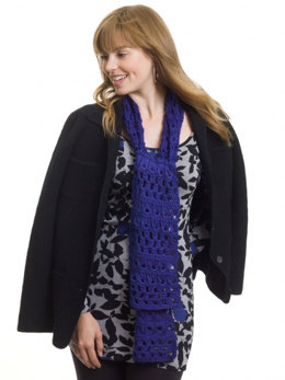 Broomstick Lace Scarf, Stole or Throw in Caron Simply Soft - Downloadable PDF