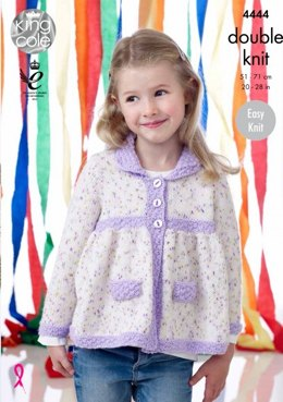 Jacket, Hat and Blanket in King Cole Smarty DK and Big Value Baby DK - 4444 - Leaflet