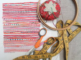 Dropcloth Samplers Red Stripe Embroidery Kit