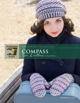 Compass Tam & Mittens in Juniper Moon Farm Herriot Fine - J23-05 - Downloadable PDF