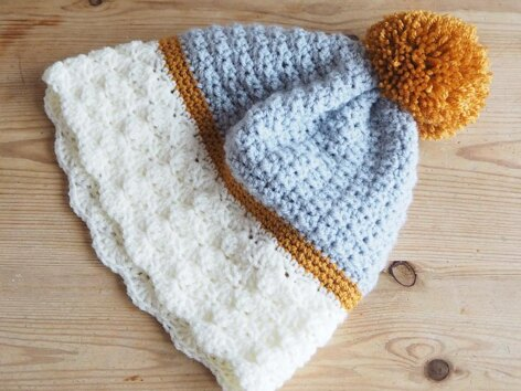 Snow Dipped Slouchie Hat