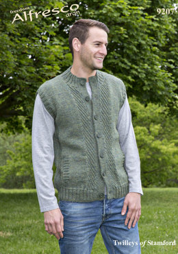 Waistcoat & Cardigan in Twilleys Freedom Alfresco Aran - 9207