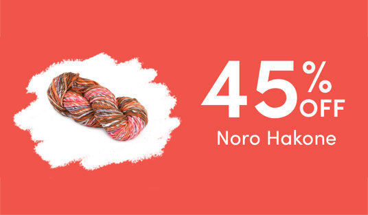 45 percent off Noro Hakone. Today only!