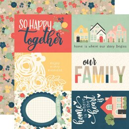 """Simple Stories So Happy Together Double-Sided Cardstock 12""""X12"""" 25/Pkg - 4""""X6"""" Elements"""