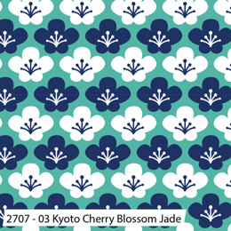 Craft Cotton Company Kyoto - Kyoto Cherry Blossom Jade