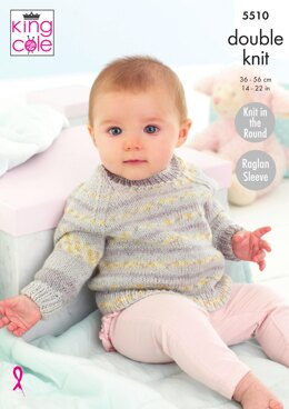 Cardigan and Sweater in King Cole Drifter For Baby - 5510 - Downloadable PDF
