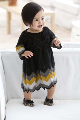 Party Dress And Shrug in Lion Brand Vanna's Glamour - L10684