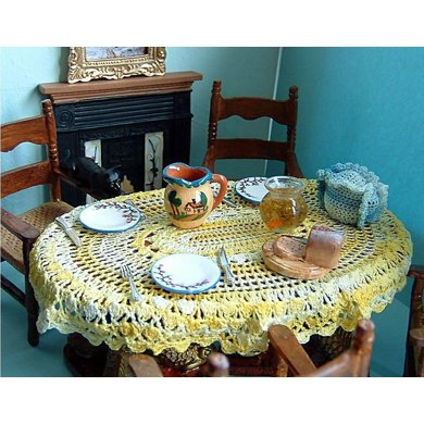 1:12th scale Oval Tablecloth
