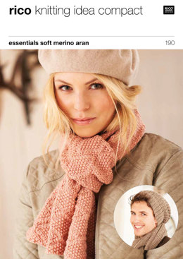Hats & Scarves in Rico Essentials Soft Merino Aran - 190